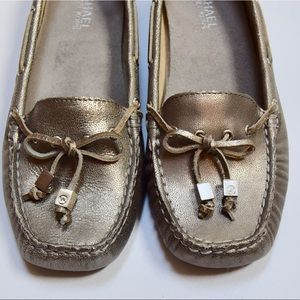 Michael Kors Silver Metallic Loafers Shoes 7.5